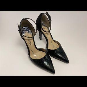 Sam & Libby Spiked Black Heels